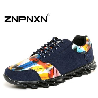 ZNPNXN Men's Fashion Loafers Shoes Lacp-up Shoes Casual men's shoes Business shoes Fashion Shoes (Red)