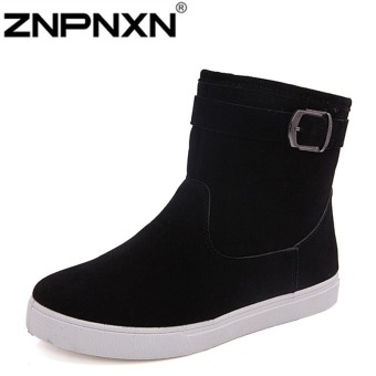 ZNPNXN Men's Fashion Public Version Of The New Models Of Snow Boots To Upgrade The Quality Version (Black)