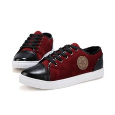 ZNPNXN Men's Fashion Sneaker Low Cut Skater Shoes) Red) (Intl)