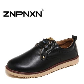 ZNPNXN Men's Retro Formal Shoes Casual Shoes (Black)