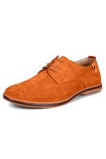 ZNPNXN Suede Fomal Men's Business Shoes (Brown) (Intl)