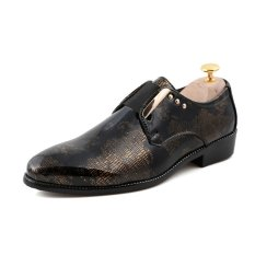 ZNPNXN Suede Men's Formal Shoes Low Cut (Yellow)