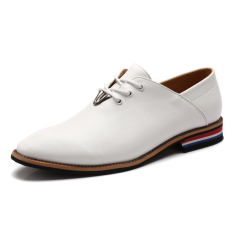ZNPNXN Synthetic Leather Men's Business Shoes) White) (Intl)