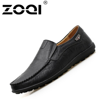 ZOQI Big Size Driving Shoes Slip-Ons & Loafers Leisure CasualFlat Shoes (Black) - intl