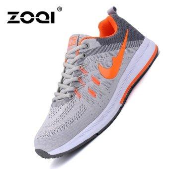 ZOQI Men's Fashion Anti-skid Running Shoes(Orange) - intl