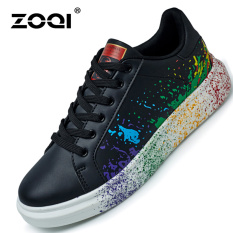 ZOQI Summer Man's Fashion Sneakers Sport Casual Breathable Comfortable Shoes-Black