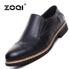 ZOQI Summer Man's Formal Low Cut Shoes Fashion Brogue Casual Comfortable Shoes (Black) - Intl