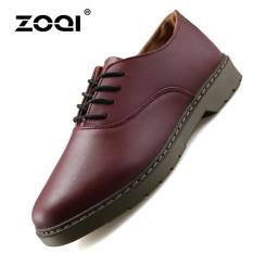 ZOQI Summer Man's Formal Low Cut Shoes Fashion Casual Comfortable Shoes-Dark Brown