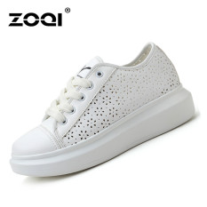 ZOQI Summer Woman's Fashion Sneakers Sport Casual Breathable Comfortable Shoes (White) - Intl