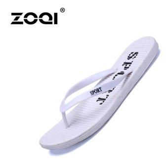 ZOQI Women's Fashion Flip Flops & Sandals Casual Shoes Beach Flip Flops (White) -