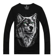 ZUNCLE Men's Fashion 3D Printed Long-sleeved Cotton T-shirt, Metal Rock Punk (Nv-LCD9) (Intl)