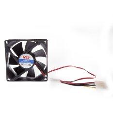 8 Centimetre CPU Cooler Fan 4 Pin Black - Intl
