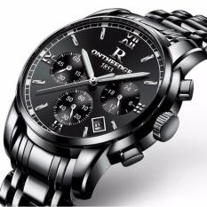 (100% Authentic) Curren Men's Black Stainless Quartz Business Steel Strap Watch - intl