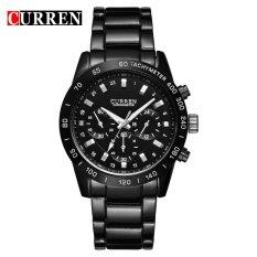 [100% Genuine] CURREN 8017 Men Watches Top Brand Luxury Men Military Wrist Watches Men Sports Watch - Intl
