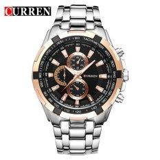 [100% Genuine] CURREN 8023 Mens Watches Top Brand Luxury Men Military Wrist Watches Full Steel Men Sports Watch Waterproof - Intl