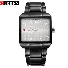 [100% Genuine] CURREN 8132 Men New Fashion Sports Watches Quartz Analog Man Business Quality All Steel Watch 3 ATM Waterproof - Intl