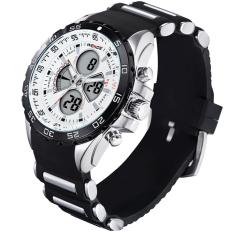 [100% Genuine] Famous Brand WEIDE Sport Watch 3ATM Digital Waterproof Silicone Strap Men Quartz Fashion Men's Casual Wristwatch 1103 - Intl