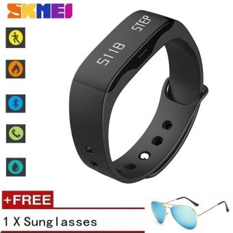 [100% Genuine] SKMEI Smart band OLED Display Bluetooth 4.0 Sleep Monitor Smart Bracelet Fitness Tracker ?Free Sunglasses Gfit? - intl