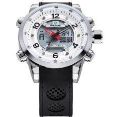 [100% Genuine] WEIDE Sport Watch Brand Dual Time Zone Men Quartz Digital Multimeter Waterproof Outdoor Military Watches Men Wristwatch 3315 - Intl
