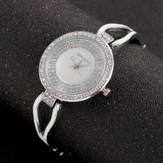 10pcs * Luxury lady diamond chain watch watches quartz watches accessories wholesale diamond temperamentSilver Black Belt - intl