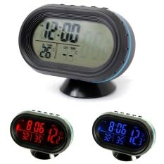 12-24V Digital Auto LCD Display Backlight Temperature Thermometer Car Voltmeter Digital Tester Monitor Meter Voltage Alarm Clock