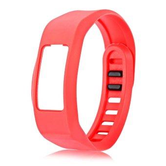16mm Silicone Band for Garmin vivofit2 Sports Bracelet (Red) - intl