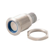 16mm Waterproof Metal Circle Latching Push Button Stainless Switch Blue TE547