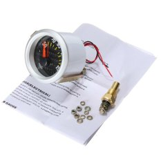 2.52mm Electrical Oil Temp Temperature Gauge Celsius White Carbon Fiber Face