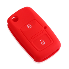 2 Buttons Silicone Car Key Case Cover For Skoda Octavia A3 A4 A5 Fabia Superb Yeti Rapid Citigo - Intl