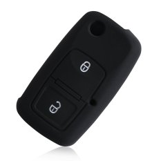 2 Buttons Silicone Car Key Case Cover For VW Volkswagen MK4 Bora Golf 4 5 6 Passat Polo Bora Touran - Intl
