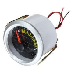 "2"" Inch 52mm Electrical Oil Pressure Gauge Meter Carbon Fiber Face Yellow LED"