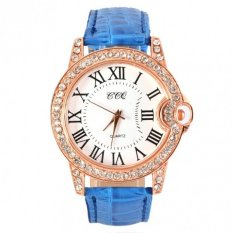 2015 Hot Practical 6 Colors Adjustable Synthetic Leather Strap Women Watches Blue