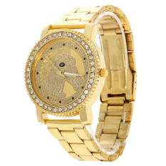 2016 Brand New Ladies Luxury Diamond Fashion Horse Quartz Watch Gold (Intl)
