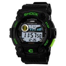 2016 Fashion Brand Shockproof Multifunction Digital Men Sport Watch (Green) (Intl)