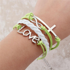 2016 New Fashion Jewelry Infinite Double Leather Multilayer Charm Bracelet For Woman Jewelry