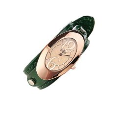 2016 New Fashion Vintage Trend Style Women Leather Wrist Watch Green