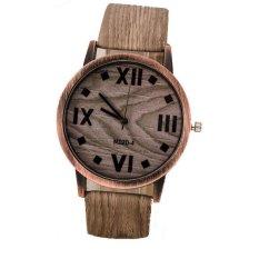 2016 unisex perhiasan mewah dari kayu maupun bambu baru merek jam tangan kulit kayu kuarsa blaus