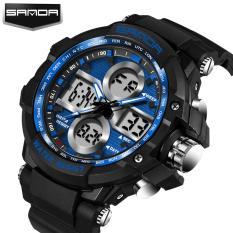 2017 sanda men's large dial waterproof electronic men's watch fashion multi-purpose outdoor sports trend
