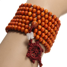 216 Prayer Sandalwood Buddhist Buddha Meditation Bead Mala Bracelet Necklace - Intl
