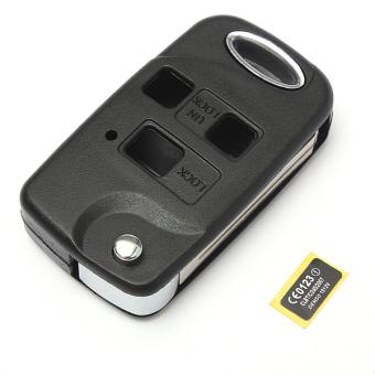 3 Button Conversion Flip Key Remote Fob Case For Lexus IS200 LS400 RX300 GS300 Black