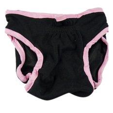 360DSC Female Pet Dog Velcro Fixed Underwear Puppy Cat Diaper Sanitary Pants - Black L -