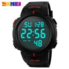 3Pcs SKMEI 1068 Unisex Waterproof LED Light Rubber Digital Wrist Watch