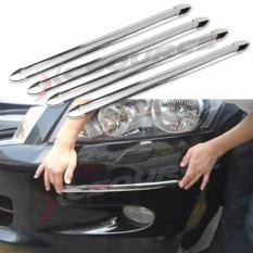 4 buah menebalkan Mobil Anti Tabrakan strip karet bumper pelindung tabrakan anti gosok bumper bar kecelakaan style cetakan YA406-SZ