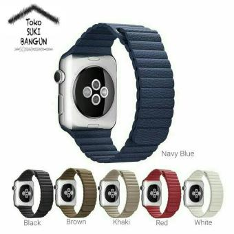 Harga 42Mm Apple Watch Iwatch Tali Jam Magnetic Leather Loop Strap