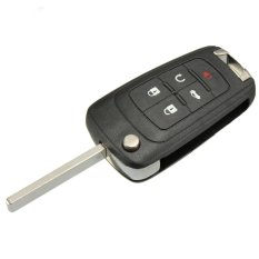 5 Buttons Flip Folding Key Shell For Chevrolet Remote Key Case Fob Replacement