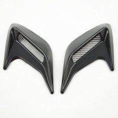 5pcs*2x Universal Black New Car Auto Decorative Side Vent Air Flow Fender Intake Sticker (Black)