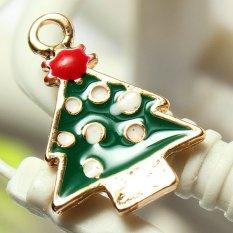 5pcs Gold Enamel Christmas Xmas Gifts Snowflake Charm Pendants Jewelry Findings Snowflake Christmas Tree - Intl