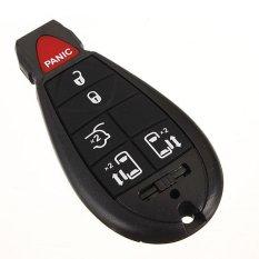 6 Buttons Key Fob Keyless Remote Chip Transmitter Clicker For Chrysler Dodge NEW (Black)