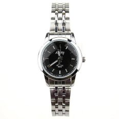 6046 Quartz Watch Ms Steel Band Fashion Lovers Table Student Table Women's Watch Sports Watches For Women's Watches Black (Intl)