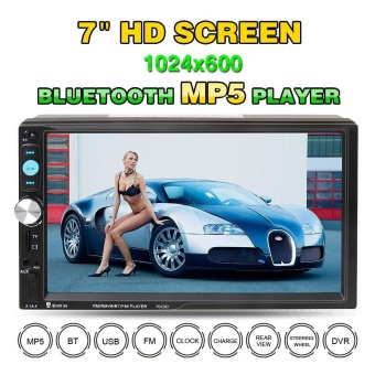 7023D 7 Inch 2 DIN Bluetooth HD Car Stereo MP5 Player Card Reader FM Radio Fast Charge Support USB / AUX / DVR - intl